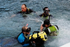 Filming Diver training