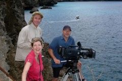 Filming Whale sharks around Christmas Island.