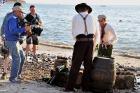 Wineline smugglers beach scene was shot day for night.
